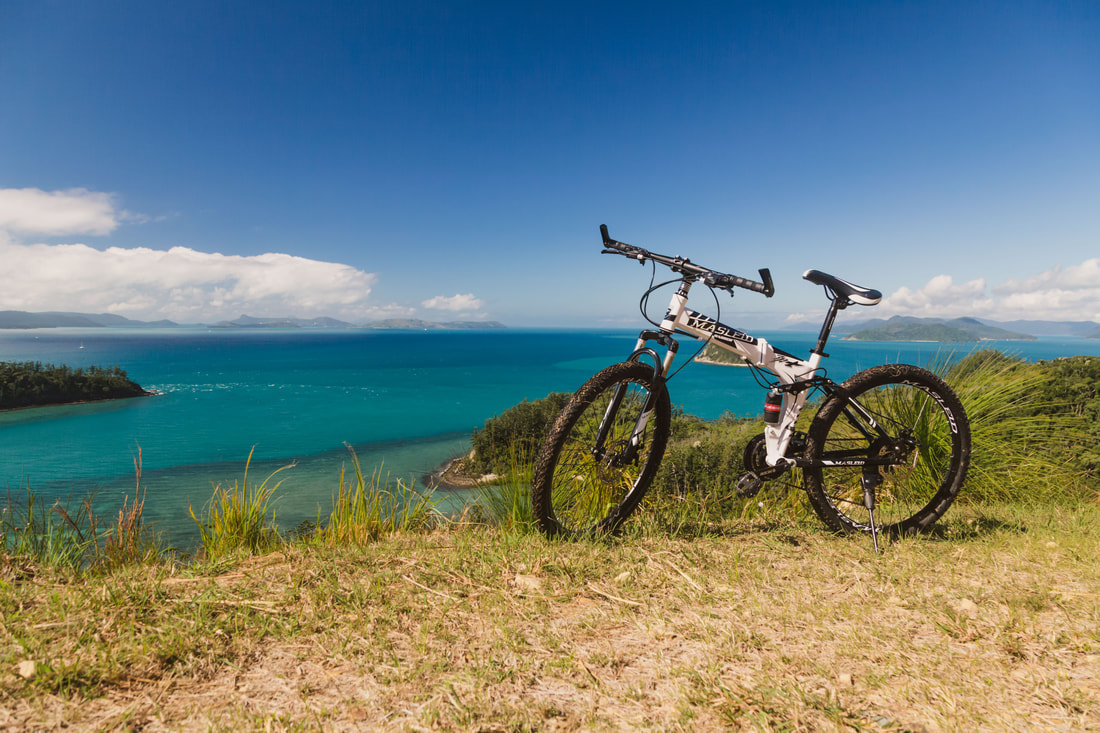 Mountain Biking Trails Whitsundays, Island Mountain Bike Trails, South Molle Island Bike Trail, Mountain Biking on South Molle Island, Where to go riding in the Whitsundays, Copyright Plain Jane Creative 2019