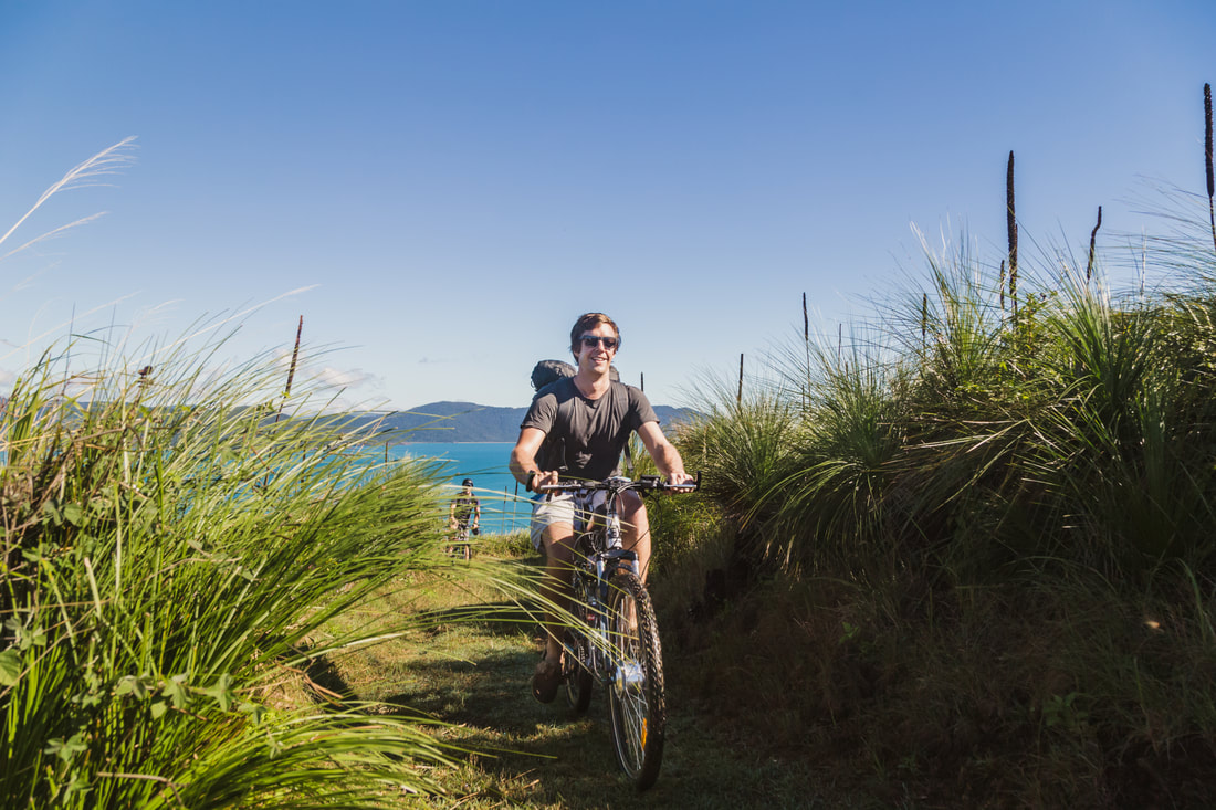 Self Guided Mountain Biking, Mountain Biking South Molle Island, How do I get to South Molle Island, Only island mountain bike trail in the Whitsundays, Whitsunday Islands Mountain Biking trail
